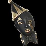 Vintage Mardi Gras Jester Brooch