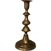 19th Century Brass Push-Up Candlestick