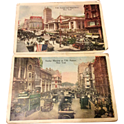 Early 1900's Souvenir Booklet Photos Of New York City Buildings & Street Scenes