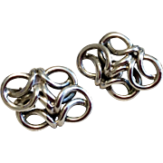 Vintage Sterling Silver Clip Earring
