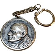 Vintage Silver Tone Metal Joanne's Paulus II Key Chain