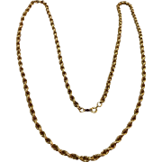 "Vintage  12 K Gold Filled 30"" Rope Chain"