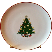 B C Clark's Vintage Christmas Tree Plate 1979 81st Year