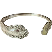 Vintage Upcycled Gorham Sterling Silver Spoon Cuff Bracelet