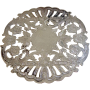 "Vintage Wallace 6 1/4"" Silverplate Trivet"