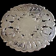 "Vintage Wallace 6 1/4"" Silverplate Trivet"