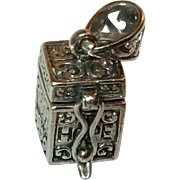 Vintage Sterling Silver Prayer Box Pendant/Charm
