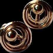 Vintage Carl Art 12 K Gold Filled Screw  Back Earrings