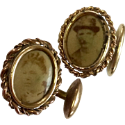 Vintage Gold Filled Photo Cufflinks