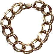 Large Vintage Gold Filled Charm Bracelet