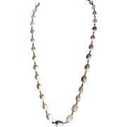"Vintage Art Deco Pools Of Light 30"" Graduated Oval Rock Crystal Necklace"