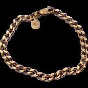 Vintage Sterling Silver Gilt Charm Bracelet