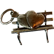 Vintage Sterling Silver Lovers Bench Charm