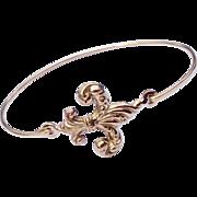 Vintage Gold Filled Fleur D Lis Bracelet