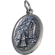 Our Lady Of Lourdes St. Bernadette Catholic Medal