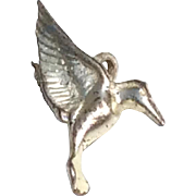 Vintage Sterling Silver Hummingbird Charm