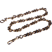 "Vintage Gold Plate 14"" Watch Chain"