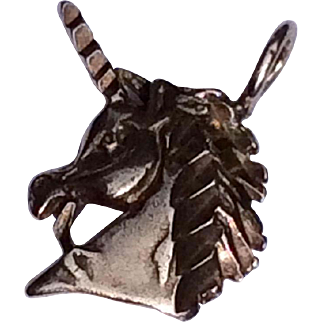 Vintage Sterling Silver Unicorn Charm