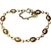Vintage Gold Filled Faux Cameo Bracelet