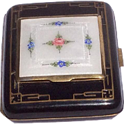 Art Deco Guilloche Enamel Ripley & Gowen Compact Cigarette Business Card Case Marked La Mode