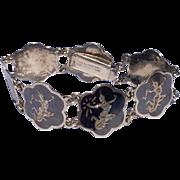 Vintage Sterling Silver Siam Nielloware Bracelet