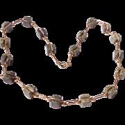 Vintage Irish Connemara Gold Filled Necklace
