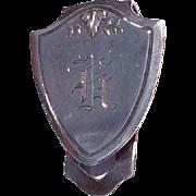 Vintage Sterling Silver Napkin Clip