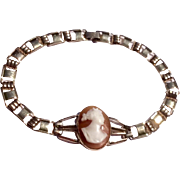 Vintage Gold Filled Simmons Cameo Bracelet