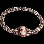 Vintage Gold Filled Simmons Cameo Bracelet