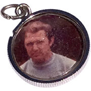 Vintage Sterling Silver Photo Charm