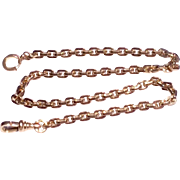 Vintage 12 K Gold Filled Square Link Pocket Watch Chain