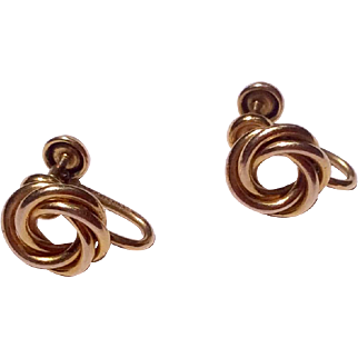 Vintage Gold Filled Screw Back Earrings