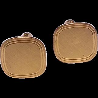 Vintage Gold Filled Brushed Cufflinks