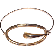 Vintage Upcycled Gold Filled Buckle Brooch Bangle Bracelet