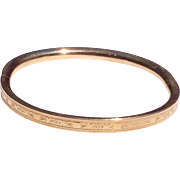 Vintage Lestage 12 K Gold Filled Baby Bangle Bracelet
