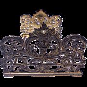 Art Nouveau Expandable Collapsible Iron Book Holder