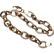 Vintage Gold Tone Metal Flexible Link Bracelet