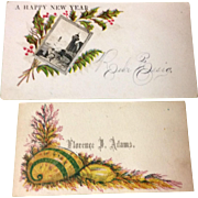 Victorian Set Of Two Calling Cards