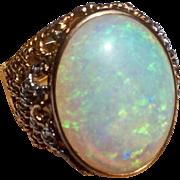 Vintage 14 K Gold 10 Carat Opal Ring