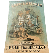 Vintage Advertising Trade Card For Empire Wringer Co.