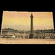 World War I Postcard The Palace And Column Vendome