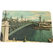 World War I Postcard Paris Le Pont Alexandre