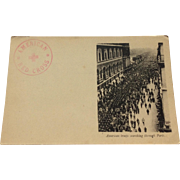 World War I Postcard American Troops Marching Through Paris