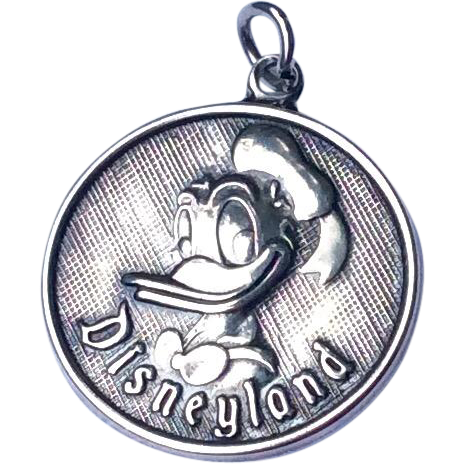 Vintage Sterling Silver Walt Disney Donald Duck Charm Pendant