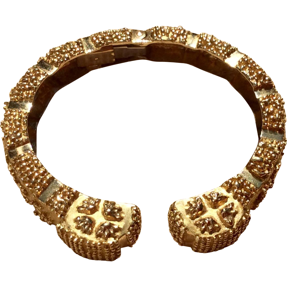 Fabulous Wander France 18 K Gold Clamper Bracelet