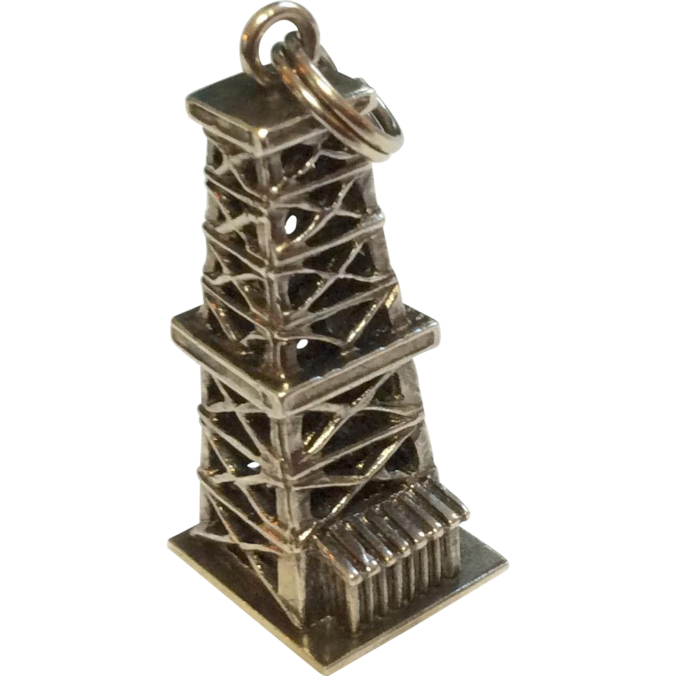 Vintage Sterling Silver Oil Well