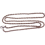 "Vintage Italian Sterling Silver 22"" Rope Chain Necklace"