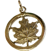 Vintage Sterling Silver Canada Disk Charm