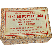 Vintage Cardboard Hang On Ivory Factory Earring Display Box