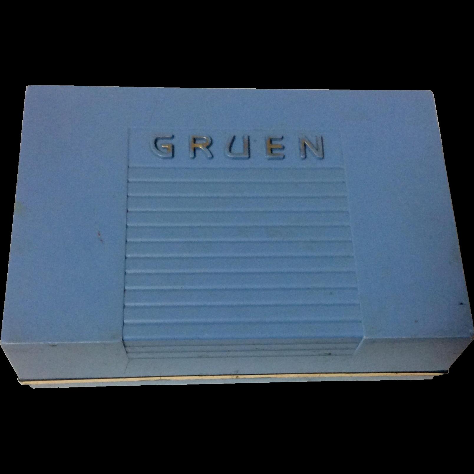 Vintage Gruen Watch Display Boxy